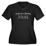 Software Testing Women's Plus Size V-Neck Dark T-S