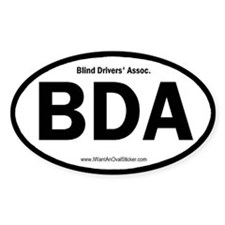 Blind Drivers' Association Oval Decal