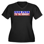 Feed PETA To The Hungry Women's Plus Size V-Neck D