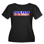 Feed PETA To The Hungry Women's Plus Size Scoop Ne