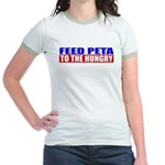 Feed PETA To The Hungry Jr. Ringer T-Shirt