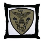 Utah Police SERT Throw Pillow