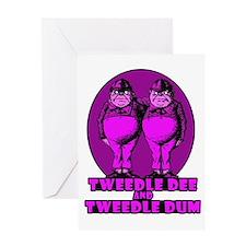 Tweedle Twins Logo Pink Greeting Card