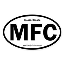 Moose, Canada Oval Decal