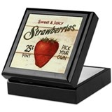 Pick Your Own Strawberries Keepsake Box