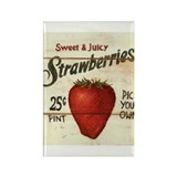 Pick Your Own Strawberries Rectangle Magnet