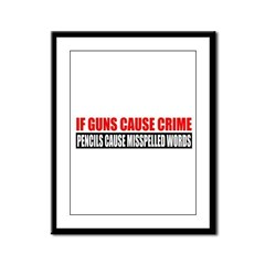 If Guns Cause Crime Framed Panel Print