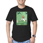Sock Monkey Bartender Men's Fitted T-Shirt (dark)