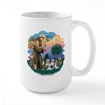 St Francis #2/ Shih Tzus (4) Large Mug