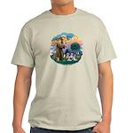 St Francis #2/ Shih Tzus (4) Light T-Shirt