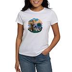 St Francis #2/ Shih Tzus (4) Women's T-Shirt