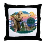 St Francis #2/ S Husky #2 Throw Pillow