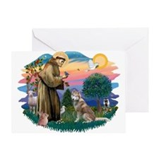 St Francis #2/ S Husky #2 Greeting Card