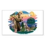St Francis #2/ S Husky #2 Sticker (Rectangle 10 pk