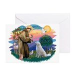 St Francis #2/ Kuvacz Greeting Cards (Pk of 10)