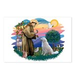 St Francis #2/ Kuvacz Postcards (Package of 8)