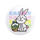 "Cute Easter Bunny 3.5"" Button"