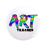 "Art Teacher 3.5"" Button"