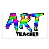 Art Teacher Sticker (Rectangular)