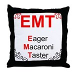 Eager Macaroni Taster Throw Pillow