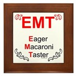 Eager Macaroni Taster Framed Tile
