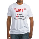 Eager Macaroni Taster Fitted T-Shirt