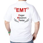 Eager Macaroni Taster Back Image Golf Shirt