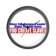 You Create Slaves Wall Clock
