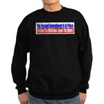 The Second Amendment Is In Pl Sweatshirt (dark)