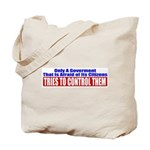 The Government That Fears The Tote Bag