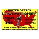 Bigfoot Hunting License  Aufkleber