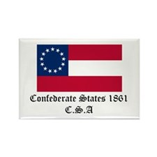 Secede! Confederate States Rectangle Magnet (10 pa
