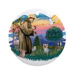 St Francis #2/ Yorkie #13 Ornament (Round)