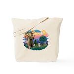 St Francis #2/ Yorkie #13 Tote Bag
