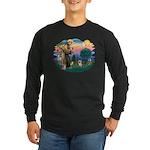 St Francis #2/ Yorkie #13 Long Sleeve Dark T-Shirt