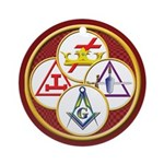 Masonic York Rite Circle Ornament (Round)