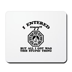 Enter 77 LOST Mousepad
