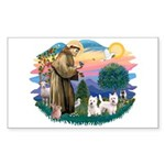 St Francis #2 / Westies (2) Sticker (Rectangle)