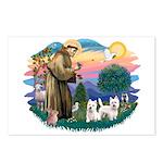 St Francis #2 / Westies (2) Postcards (Package of