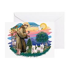 St Francis #2 / Westies (2) Greeting Card