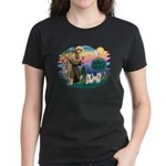 St Francis #2 / Westies (2) Women's Dark T-Shirt
