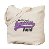 Most Awesome Aunt Tote Bag