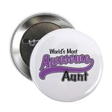 "Most Awesome Aunt 2.25"" Button"