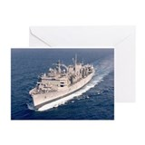 USS Supply Ship's Image Greeting Cards (Pk of 10)