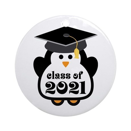 Penguin Class of 2021 Ornament (Round)