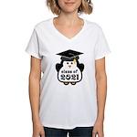 Penguin Class of 2021 Women's V-Neck T-Shirt