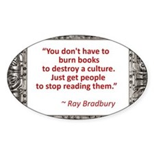 Bradbury on Books Bumper Stickers
