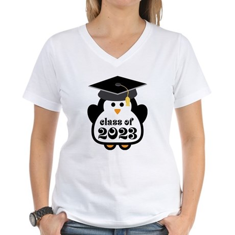 Penguin Class of 2023 Women's V-Neck T-Shirt