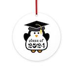 Penguin Class of 2024 Ornament (Round)