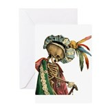 Goth Skeleton Greeting Card